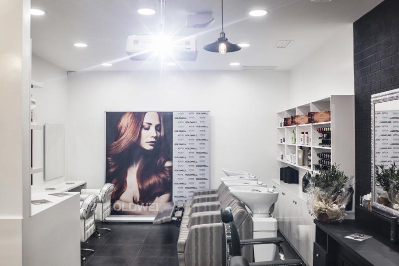 Servizi Fotografici Architettura e Interni Roma Salone Parrucchiere Goldwell negozio